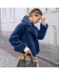 Дамско късо палто в синьо - код 164