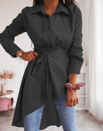 Стилна дамска риза в черно - код 6944