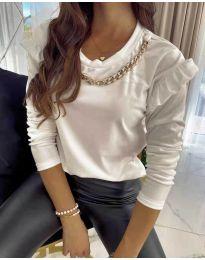 Дамска блуза в бяло - код 6189