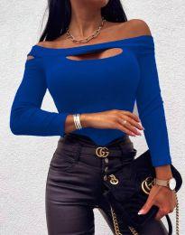 Екстравагантна дамска блуза в синьо - код 11601