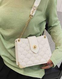 Атрактивна дамска чанта в бяло - код B414