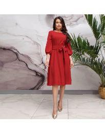 Елегантна рокля в червено - код 4571