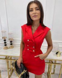 Елегантна дамска рокля в червено - код 9265
