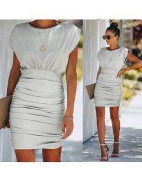 Елегантна рокля в сиво - код 1158