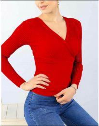 Дамска блуза в червено - код 6455