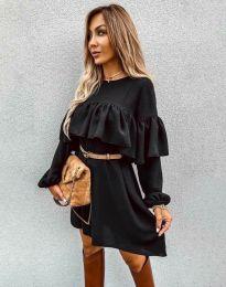 Ефектна дамска рокля в черно - код 6913