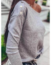 Дамска блуза в сиво - код 4417
