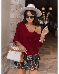 Дамска блуза в бордо - код 6013