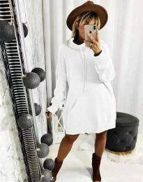 Дамска рокля в бяло - код 2933