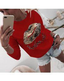 Дамска блуза в червено - код 975