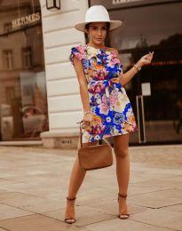 Дамска рокля с флорален десен - код 2503 - 6
