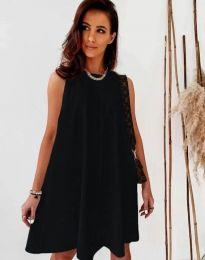 Свободна дамска рокля в черно - код 9862