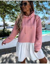 Спортна рокля в розово - код 6947