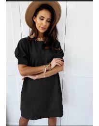Коктейлна рокля в черно - код 9868