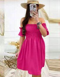 Дамска рокля в цвят циклама - код 1409