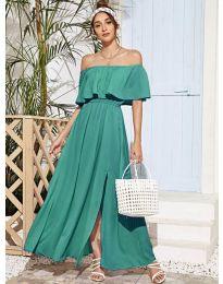 Дълга дамска рокля в цвят мента - код 698