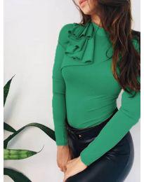 Атрактивна дамска блуза в зелено - код 7987