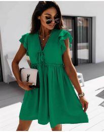 Свободна рокля в зелено - код 2093