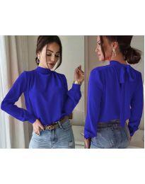 Дамска блуза в тъмно синьо - код 833