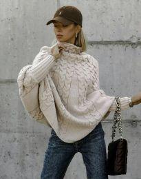 Дамски пуловер в бежово - код 24831