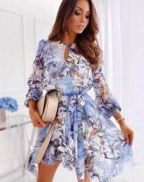 Флорална дамска рокля - код 2738 - 3