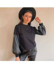 Атрактивна дамска блуза в черно - код 5171