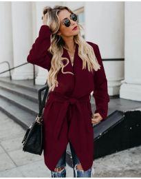 Дамско палто в бордо - код 814