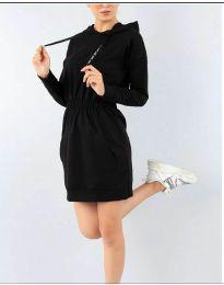 Спортна рокля в черно - код 7315
