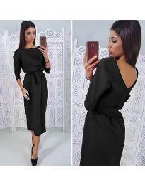 Елегантна рокля в черно - код 974
