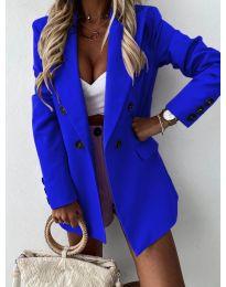 Елегантно дамско сако в синьо - код 815