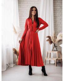 Елегантна рокля в червено - код 1544