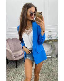 Дамско сако в синьо - код 8031