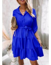 Дамска рокля в синьо - код 6970