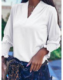 Дамска блуза в бяло - код 4549