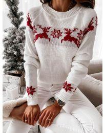 Дамски пуловер със зимен десен - код 1219 - 5