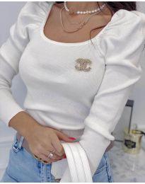 Дамска блуза в бяло - код 2180
