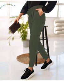 Дамски панталон в масленозелено - код 4750