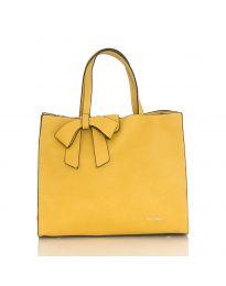 Дамска изчистена чанта в жълто - код H8017