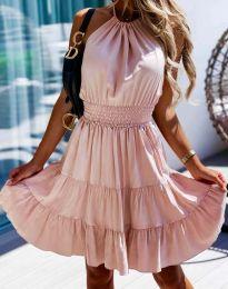 Дамска рокля в розово - код 9949
