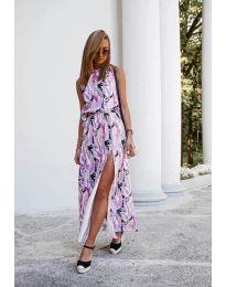 Дълга рокля с цепка - код 6511