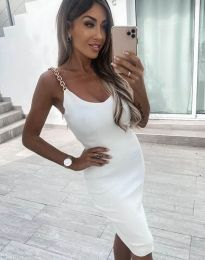 Атрактивна дамска рокля в бяло - код 2765