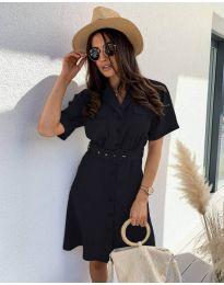 Елегантна рокля в черно - код 742
