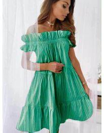 Свободна рокля в зелено - код 0299