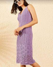 Дамска рокля в лилаво - код 0351