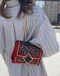 Атрактивна дамска чанта в червено - код B7594