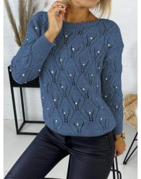 Дамска пуловер в синьо - код 392