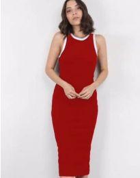 Атрактивна дамска рокля в червено - код 5273