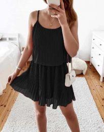 Атрактивна дамска рокля в черно - код 8596