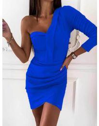 Елегантна рокля в тъмно синьо - код 2079