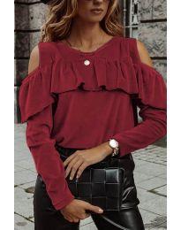 Дамска блуза в цвят бордо - код 4111